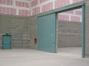 Tagliafuoco alto su parete in cartongesso