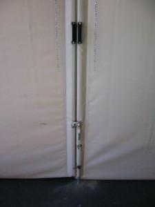 Particolare chiusura tenda